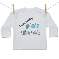 Tričko s dlhým rukávom Profesionálny plnič plienok