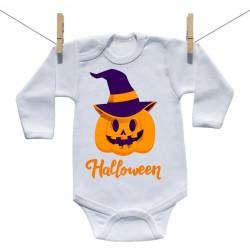 Body s dlhým rukávom Halloween tekvica