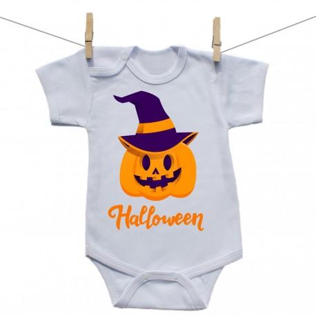 Body s krátkym rukávom Halloween tekvica