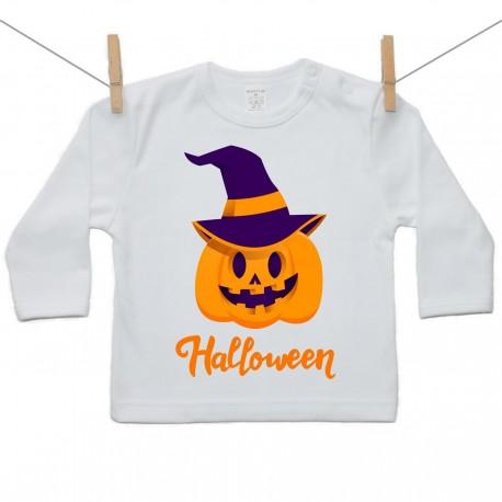 Tričko s dlhým rukávom Halloween tekvica