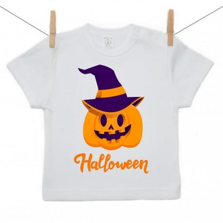 Tričko s krátkym rukávom Halloween tekvica