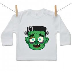 Tričko s dlhým rukávom Halloween maska