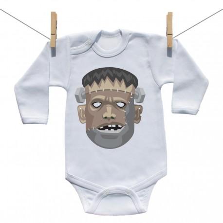 Body s dlhým rukávom Halloween maska Frankenstein
