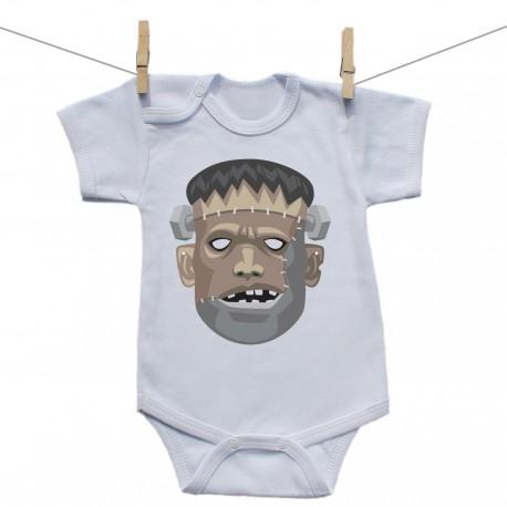 Body s krátkym rukávom Halloween maska Frankenstein