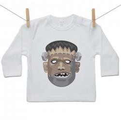Tričko s dlhým rukávom Halloween maska Frankenstein