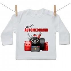 Tričko s dlhým rukávom Budúci automechanik