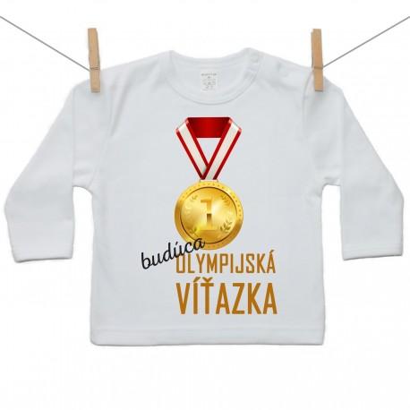 Tričko s dlhým rukávom Budúca olympijská víťazka