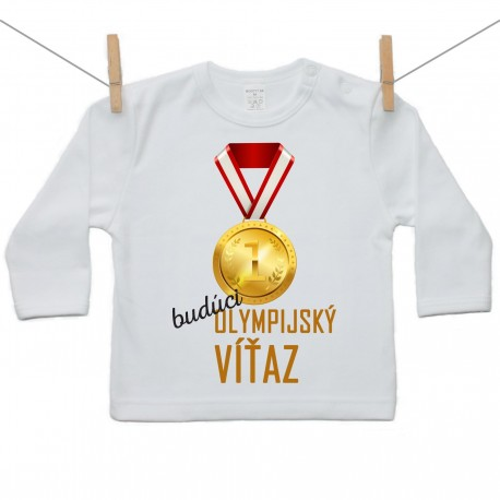 Tričko s dlhým rukávom Budúci olympijský víťaz