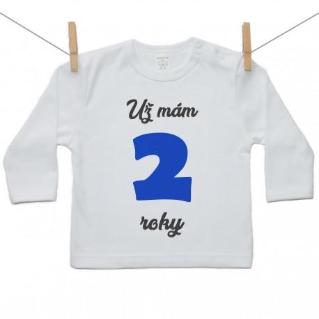 Tričko s dlhým rukávom Už mám 2 roky Chlapec