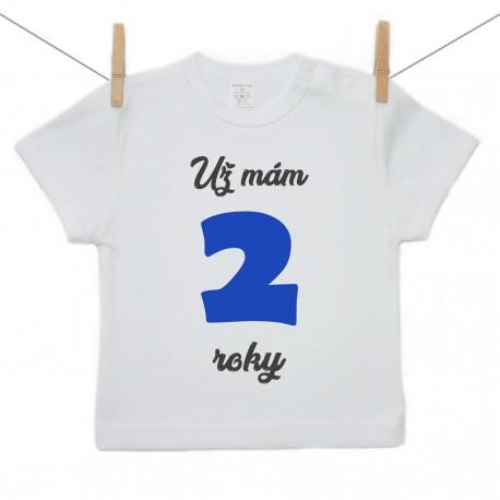 Tričko s krátkym rukávom Už mám 2 roky Chlapec