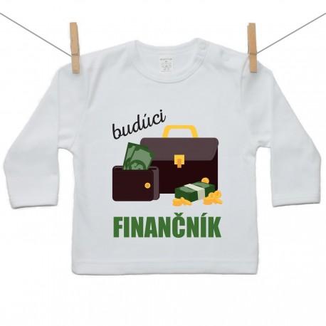 Tričko s dlhým rukávom Budúci finančník