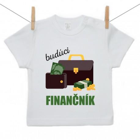 Tričko s krátkym rukávom Budúci finančník