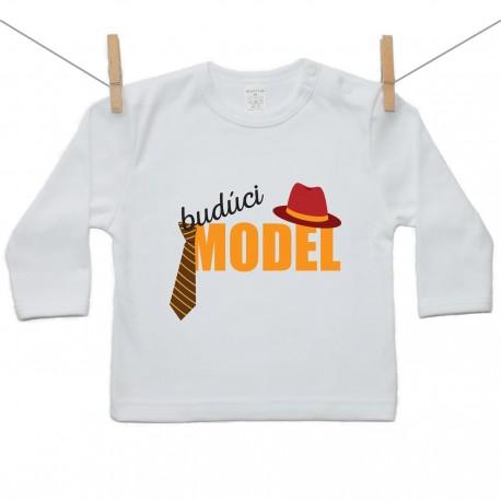 Tričko s dlhým rukávom Budúci model