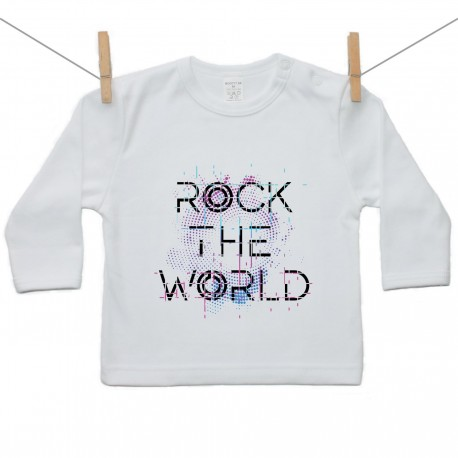 Tričko s dlhým rukávom Rock the world