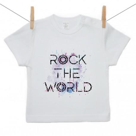 Tričko s krátkym rukávom Rock the world