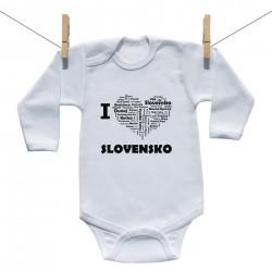 Body s dlhým rukávom I love Slovensko