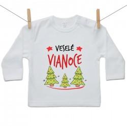 Tričko s dlhým rukávom Veselé Vianoce