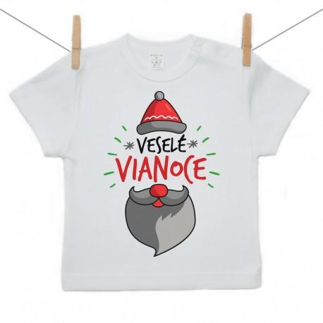 Tričko s krátkym rukávom Veselé Vianoce