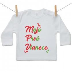 Tričko s dlhým rukávom Moje prvé Vianoce