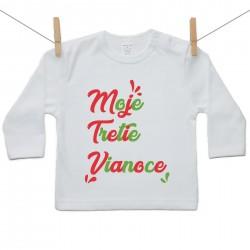 Tričko s dlhým rukávom Moje tretie Vianoce
