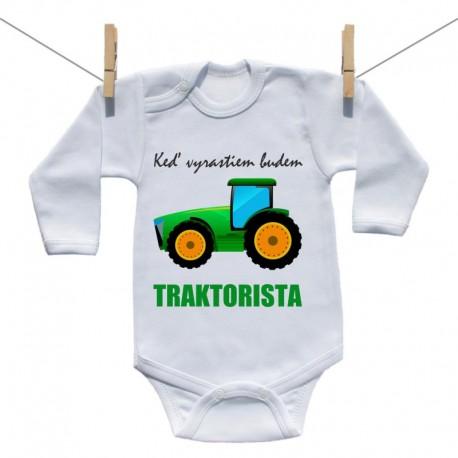Body s dlhým rukávom Keď vyrastiem budem traktorista