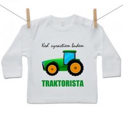Tričko s dlhým rukávom Keď vyrastiem budem traktorista
