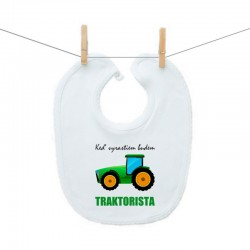 Podbradník na zapínanie Keď vyrastiem budem traktorista