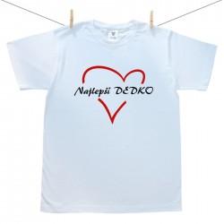 Pánske tričko s krátkym rukávom Najlepší dedko