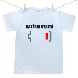 Pánske tričko s krátkym rukávom Batéria vybitá