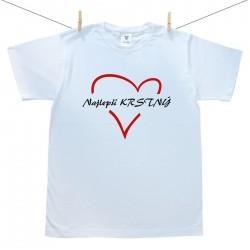 Pánske tričko s krátkym rukávom Najlepší krstný