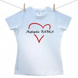 Dámske tričko s krátkym rukávom Najlepšia babka