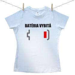 Dámske tričko s krátkym rukávom Batéria vybitá