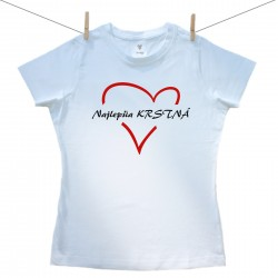 Dámske tričko s krátkym rukávom Najlepšia krstná