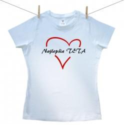 Dámske tričko s krátkym rukávom Najlepšia teta
