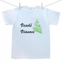 Pánske tričko s krátkym rukávom Veselé Vianoce