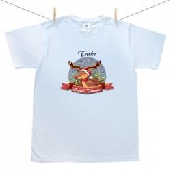Pánske tričko s krátkym rukávom Veselé Vianoce so sobíkom Tatko