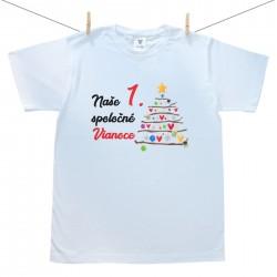 Pánske tričko s krátkym rukávom Naše 1. spoločné Vianoce