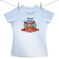 Dámske tričko s krátkym rukávom Veselé Vianoce so sobíkom Mamka