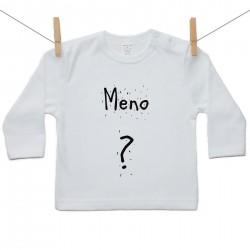 Tričko s dlhým rukávom s menom dieťaťa