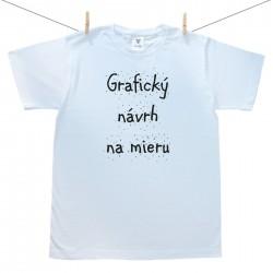 Pánske tričko s krátkym rukávom s vlastnou grafikou