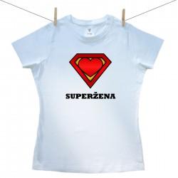 Dámske tričko s krátkym rukávom Superžena