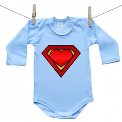 Body s dlhým rukávom (modré) SuperBábo