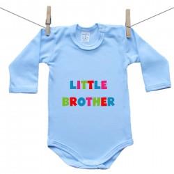 Modré body s dlhým rukávom Little brother