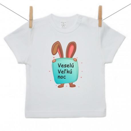Tričko s krátkym rukávom Veselú Veľkú noc 2