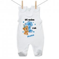 Dupačky Už mám 1 rok s Medvedíkom a menom dieťatka Chlapec