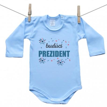 Modré body s dlhým rukávom Budúci prezident