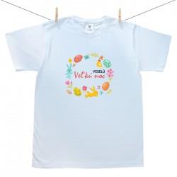 Pánske tričko s krátkym rukávom Veselú Veľkú noc 2