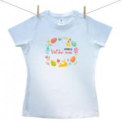 Dámske tričko s krátkym rukávom Veselú Veľkú noc 2