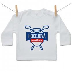 Tričko s dlhým rukávom Hokejová rodina