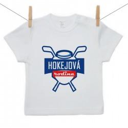 Tričko s krátkym rukávom Hokejová rodina